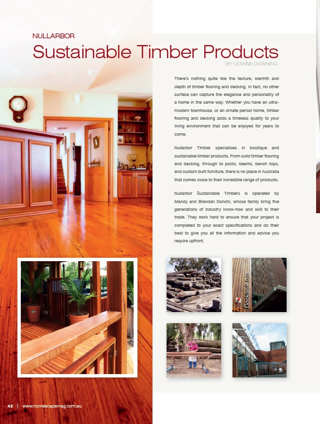 advertorial for sustainable timber