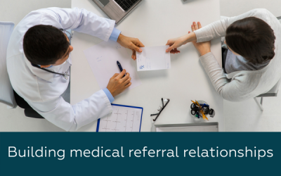 building medical referral relationships