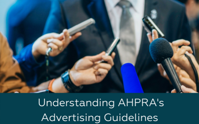 understanding AHPRA's advertising guidelines